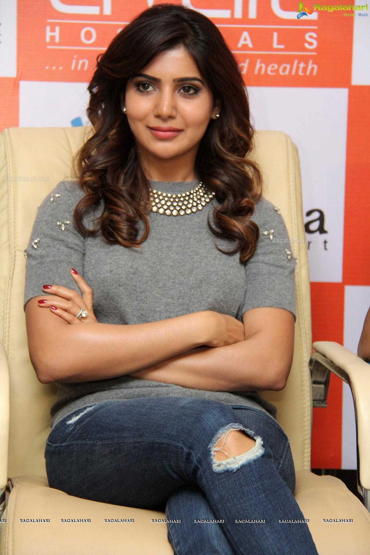 Samantha at Livlife Hospitals, Hyderabad