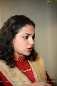 Nithya Menen Red Dress