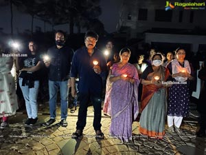 Chiranjeevi Lighting Candles with His Family