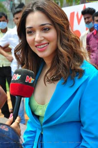 Tamannaah For 11th Hour Web Series Promotions at Tank Bund