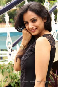 Madirakshi in Black Dress