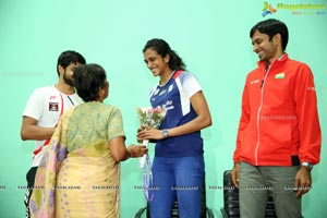 Badminton Stars PV Singhu & Sai Praneeth's Meet & Greet