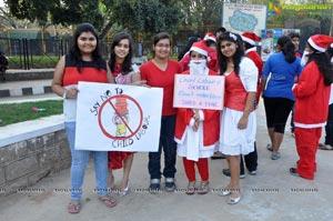 Santa aganist Child Labour
