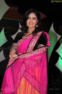 Sree Mukhi in Half Saree