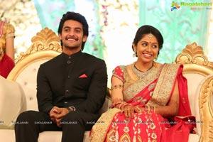 Hero Aadi Wedding Reception