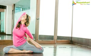 Lakshmi Manchu Exercise Photos