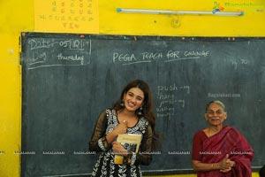 Nidhhi Agerwal at Pega Teach For Change