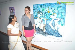 L Saraswathi Paintings at Muse Art Gallery
