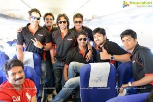 2013 CCL Telugu Warriors Team at Ranchi