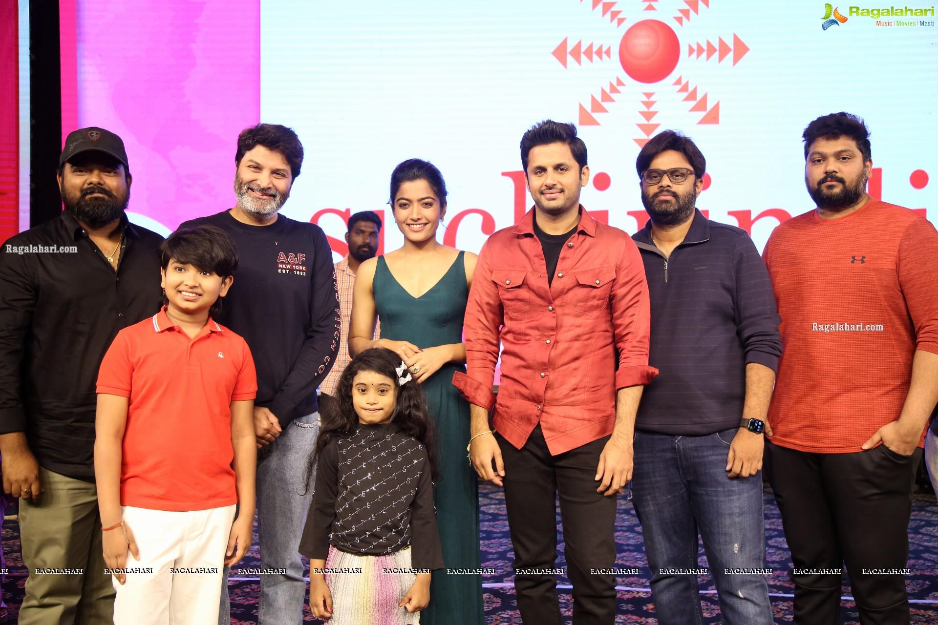 Nithiin Rashmika Mandanna S Bheeshma Movie Pre Release Event