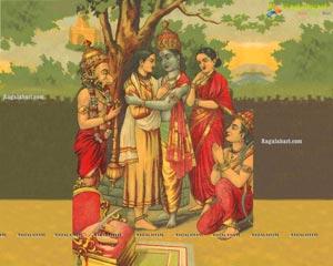 Raja Ravi Varma's Paintings Weaved into Sarees