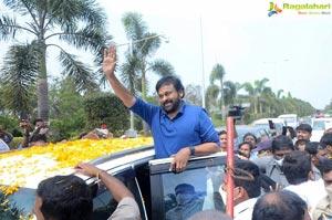 Megastar Chiranjeevi At Rajahmundry For Acharya Shoot