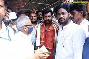 Uppena Movie Team at Annavaram Temple