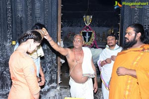 Uppena Movie Team at Warangal Bhadrakali Temple