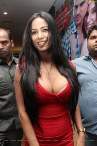 Poonam Pandey in Red Dress