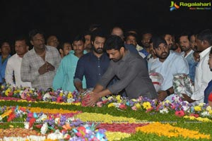 Jr NTR, Kalyan Ram Pay Tribute to NTR at NTR Ghat
