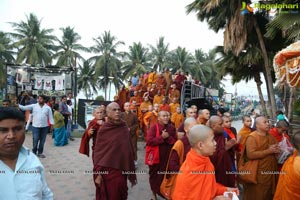 Procession Of Buddhist Monks & Followers