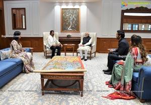Mohan Babu and Family Meets PM Modi