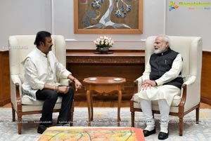 Mohan Babu and Family Meets PM Modi