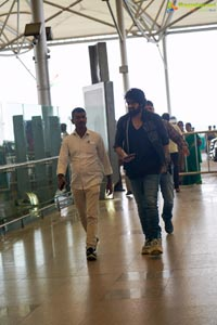Naga Shaurya at Airport