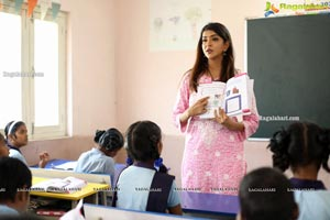 Lakshmi Manchu Volunteers as Teacher