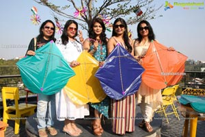 Lions Club of Hyderabad Petals Kite Flying at Fat Pigeon