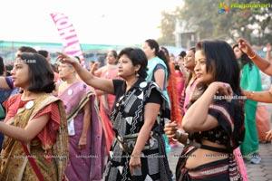 Taneira & Pinkathon's First Saree Run in Hyderabad