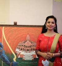 Ram Mandir Painting by Maya Nelluri