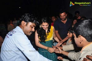 Gopichand and Taapsee at Saahasam Show to Students