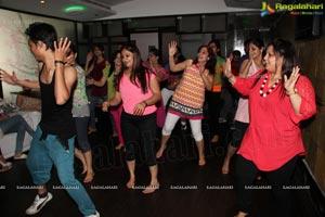 Gorgoeus Girls Zumba Session at Mozzarella Hyderabad