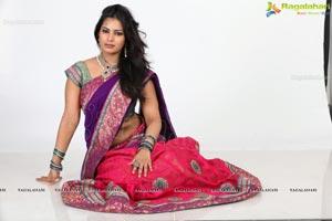 Akanksha Mohan in Half Saree
