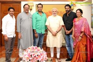 Prabhas and Devineni Prasad Meet India's Top Politicians