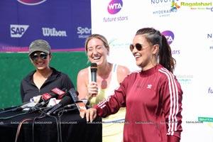 Sania Mirza Neha Dhupia Sania Mirza Tennis Academy