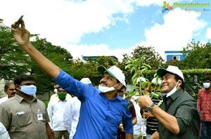 Chiranjeevi, Pawan Promote 1 Lakh Tree Plantation Mission