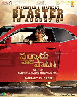 Sarkaaru Vaari Paata Birthday Blaster Announcement Poster, Insta