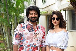 Satyadev and Priyanka Jawalkar at Thimmarusu Press Meet
