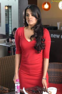 Nuvvu Nenu Heroine Anitha in Hot Red Dress