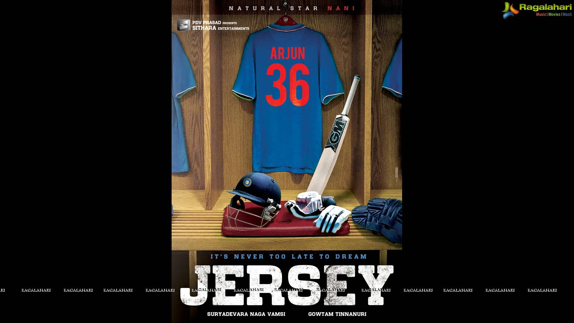Sithara Entertainments Nani's Jersey Movie Poster Designs
