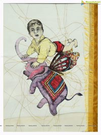 Thirumala Madupu Thirupathi's Floating Thoughts Painting