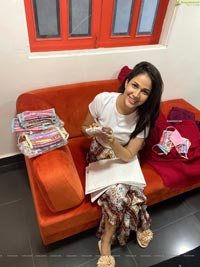 Lavanya Tripathi Produces Masks at Redtri