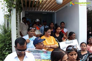 Telugu TV Artists Protest at Maa TV