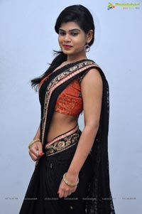 Alekhya in Black Saree