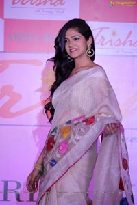 Simran Chowdary in White Saree