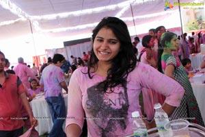 Tanusha Swathi at Bam Bam Holi Fest