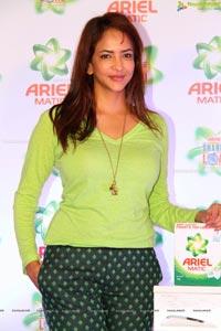 Lakshmi Manchu in Green Dress