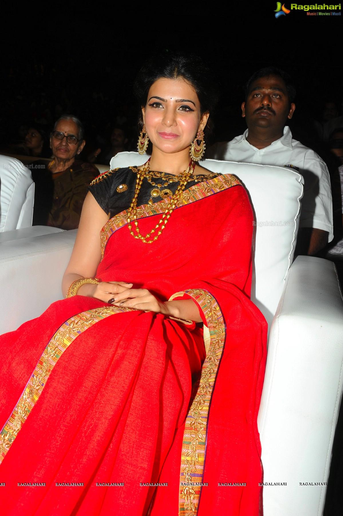 Samantha at Son of Satyamurthy Audio Release