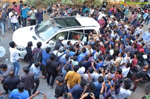 Pawan Kalyan Fans Hungama at Dil Raju Office