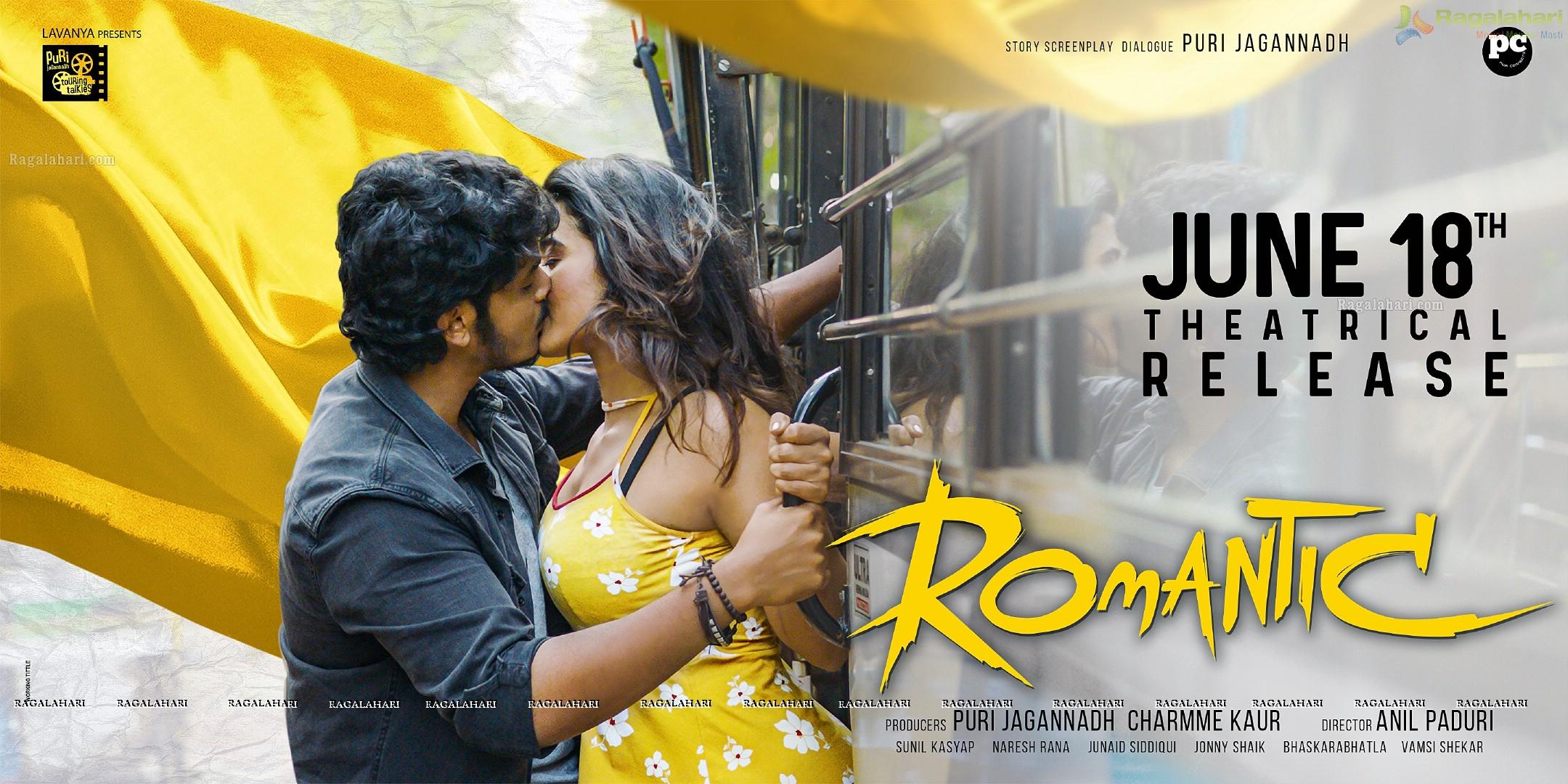 Akash Puri Romantic Movie Release Date Poster