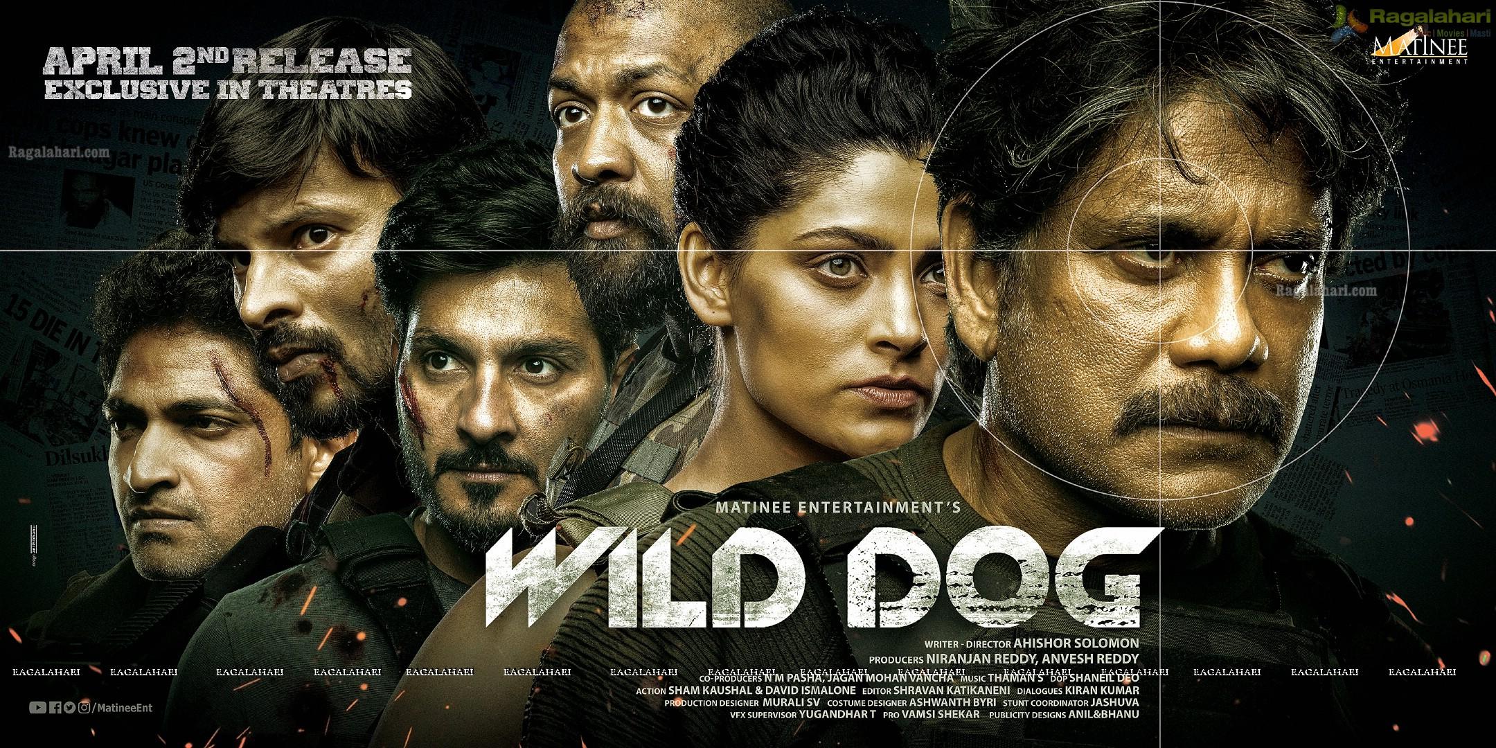 Nagarjuna Wild Dog Movie Release Date Wide Poster