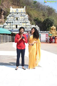 Jathi Ratnalu Team at Kanaka Durga Temple in Vijayawada